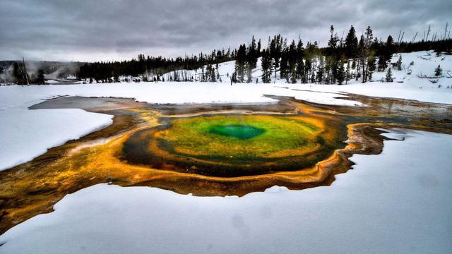 Grand Prismatic Springs: những gam màu tuyệt đẹp trong làn khói - Ảnh 7.