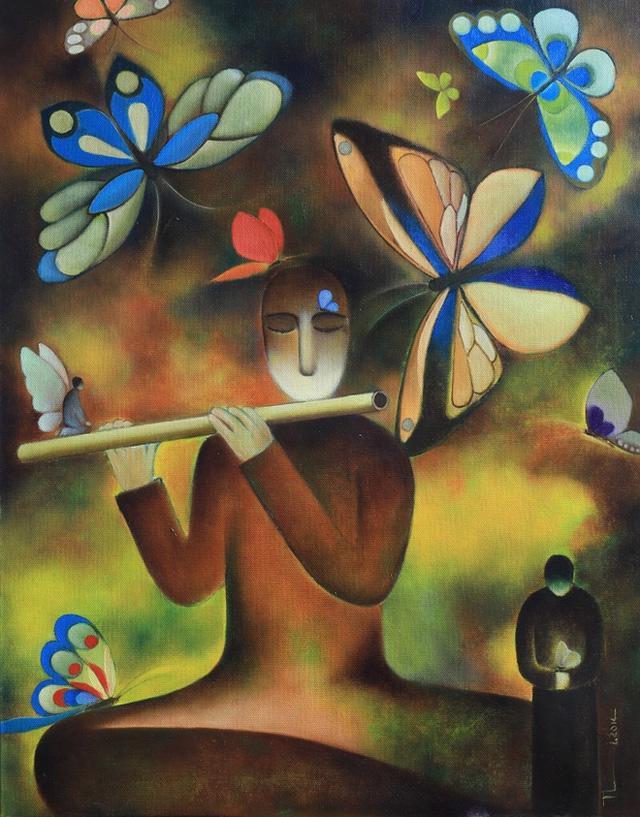 Nhà thơ Nguyễn Quang Thiều sắp có triển lãm tranh cá nhân đầu tiên - Ảnh 3.