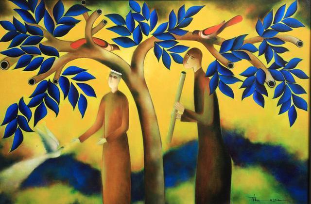 Nhà thơ Nguyễn Quang Thiều sắp có triển lãm tranh cá nhân đầu tiên - Ảnh 2.