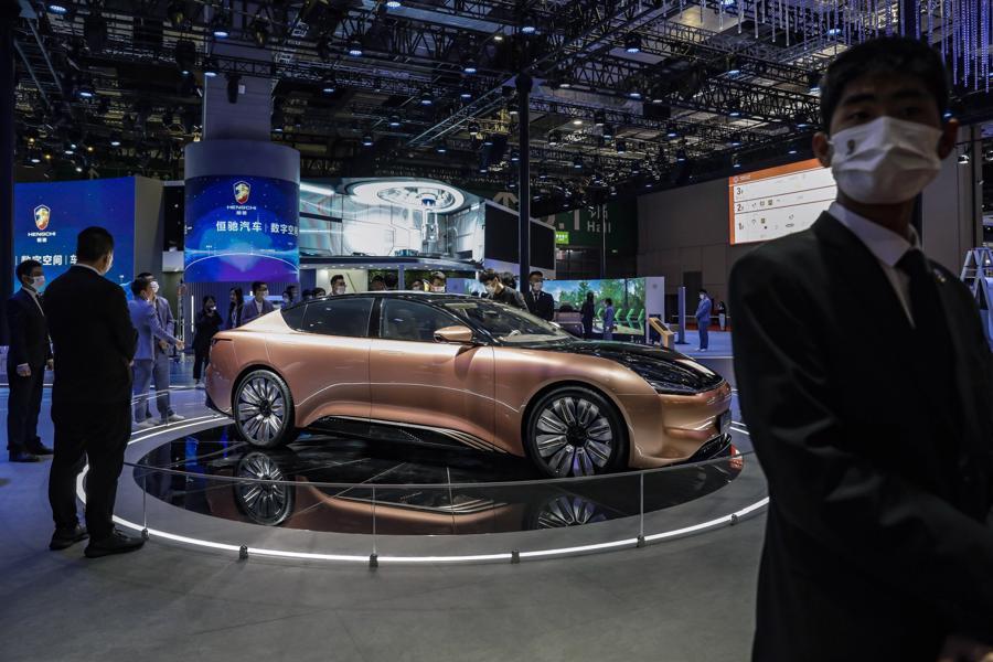 """Xe điện """"chiếm sóng"""" Triển lãm Ôtô Thượng Hải 2021 - Ảnh 1."""