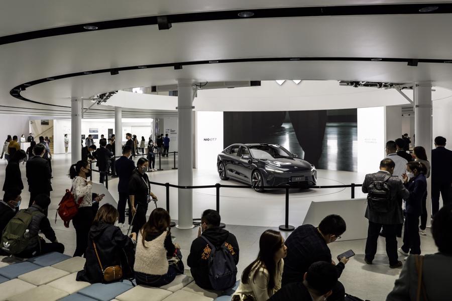 """Xe điện """"chiếm sóng"""" Triển lãm Ôtô Thượng Hải 2021 - Ảnh 10."""