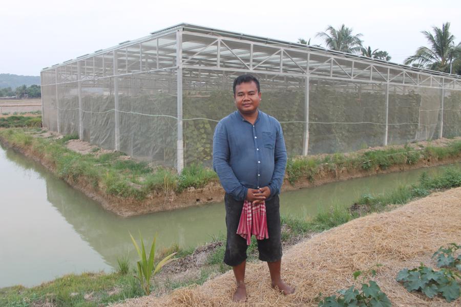 Thử nghiệm kết hợp sản xuất nông nghiệp và điện mặt trời - Ảnh 1.
