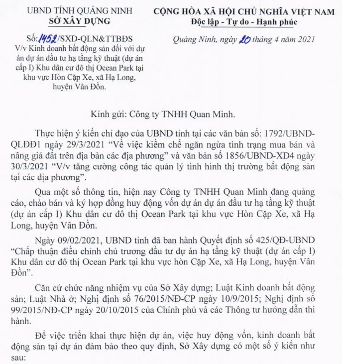 Vụ MB siết nợ Ocean Park: Quảng Ninh yêu cầu Quan Minh dừng huy động vốn - Ảnh 1.