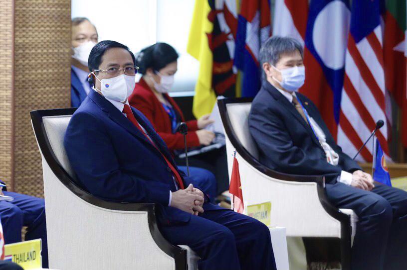 Thủ tướng Phạm Minh Chính dựHội nghị các nhà Lãnh đạo ASEAN chiều 24/4 - Ảnh: VGP