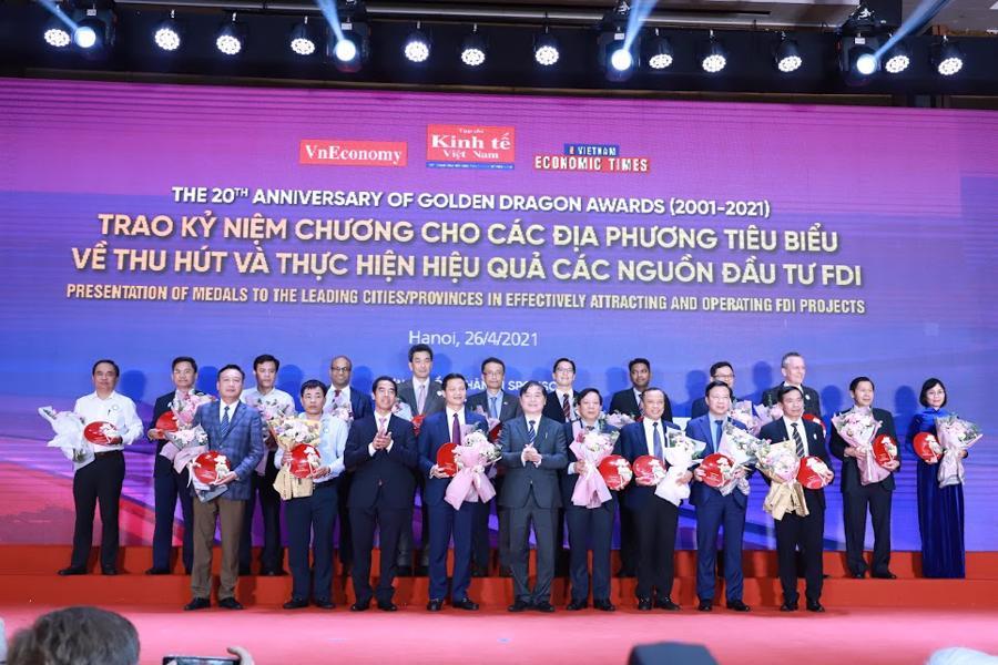 10 đại sứ quán và 10 địa phương được vinh danh trong Gala 20 năm trương trình Rồng Vàng