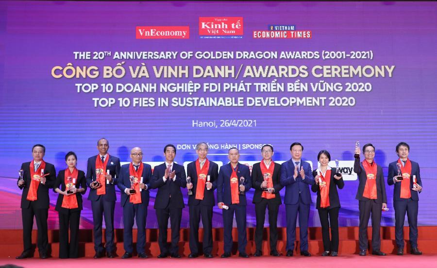 TOP 10 doanh nghiệp FDI phát triển bền vững 2020