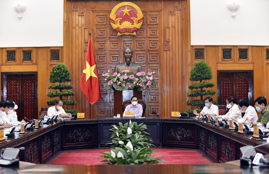 Thủ tướng Phạm Minh Chính đã chủ trì cuộc họp Thường trực Chính phủ về công tác tổ chức bầu cửđại biểu Quốc hội khóa 15 và đại biểu Hội đồng nhân dân các cấp nhiệm kỳ 2021-2026 - Ảnh: VGP