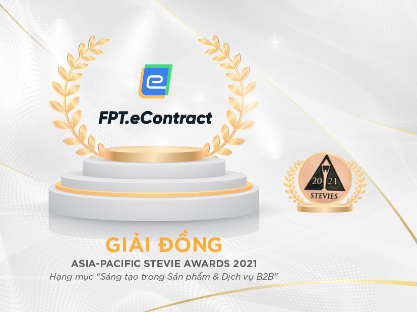 Phần mềm Hợp đồng điện tử - FPT.eContract giành giải thưởng Stevie Awards Châu Á - Thái Bình Dương - Ảnh 1