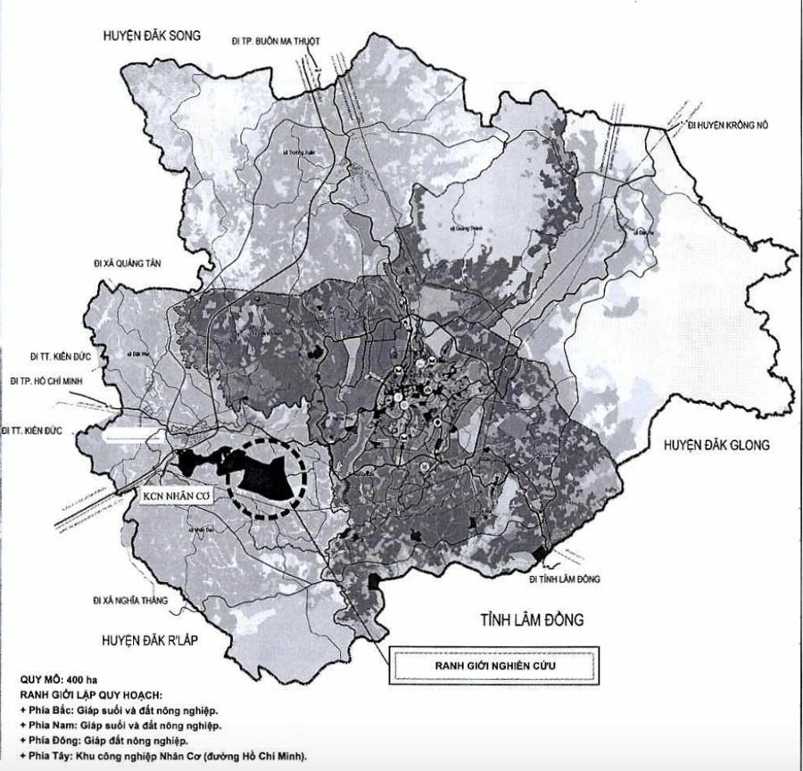 Quy hoạch phân khu xây dựng tỷ lệ 1/2000 Khu công nghiệp Nhân Cơ 2. (Nguồn: UBND tỉnh Đăk Nông).