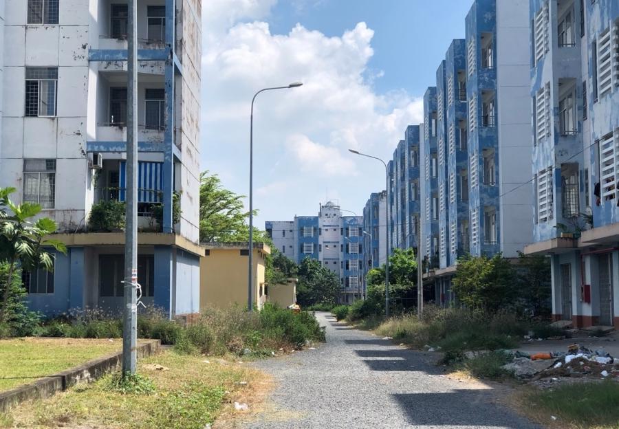 Bên trong Khu tái định cư Vĩnh Lộc B, huyện Bình Chánh, Tp.HCM - Ảnh: ITN.