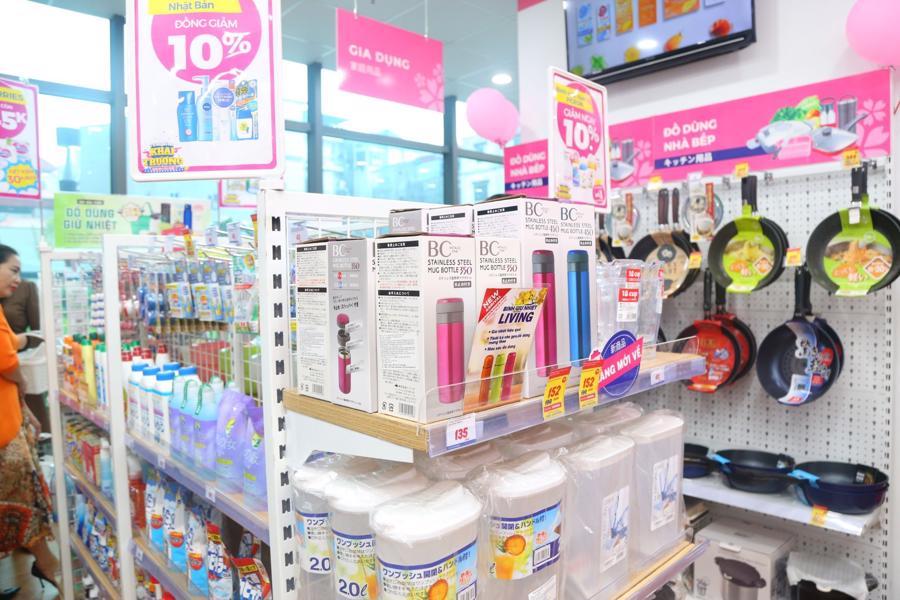 Ngành hàng đa dạng tại siêu thị Sakuko Store.