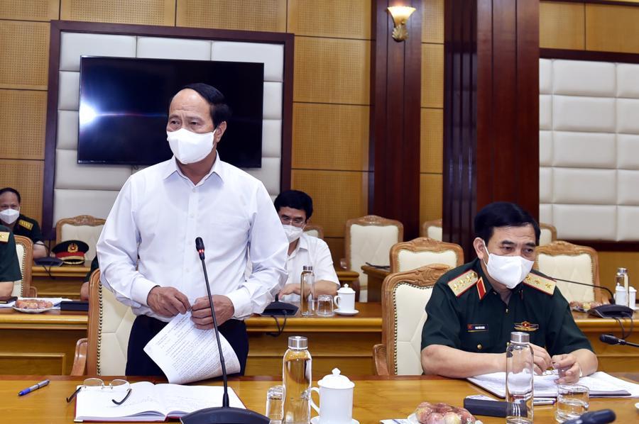 Phó Thủ tướng Lê Văn Thành phát biểu tại cuộc làm việc với tỉnh Bắc Giang.