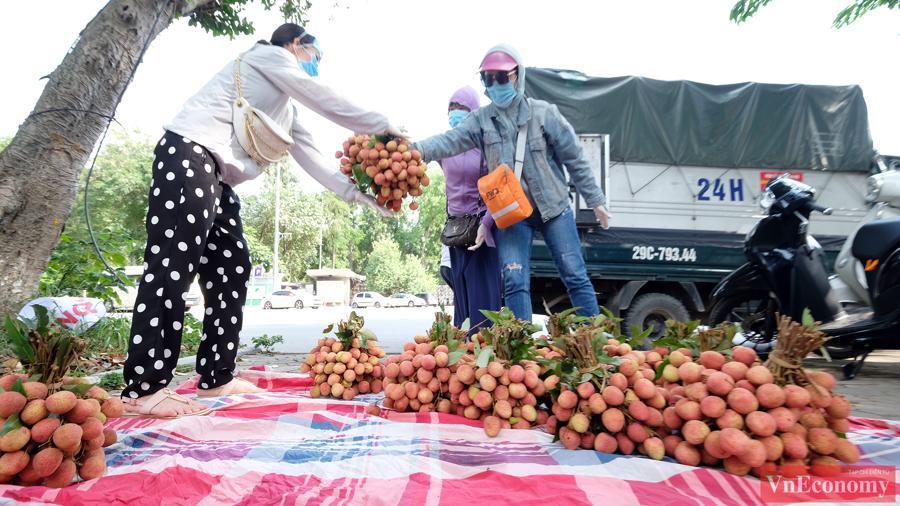 Người dân Hà Nội hào hứng mua vải sớm Bắc Giang - Ảnh 3