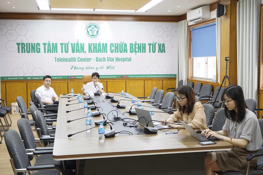 Telehealth Center tại Bệnh viện Bạch Mai ngay sau khi thành lập đã phát huy rất hiệu quả.