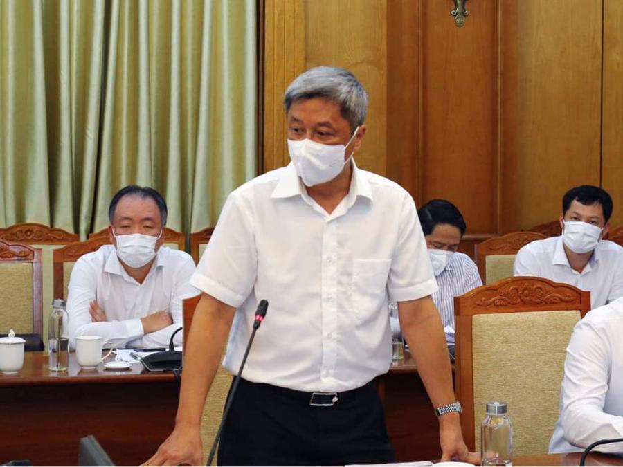 Thứ trưởng Nguyễn Trường Sơn phát biểu tại buổi làm việc chiều 29/5.