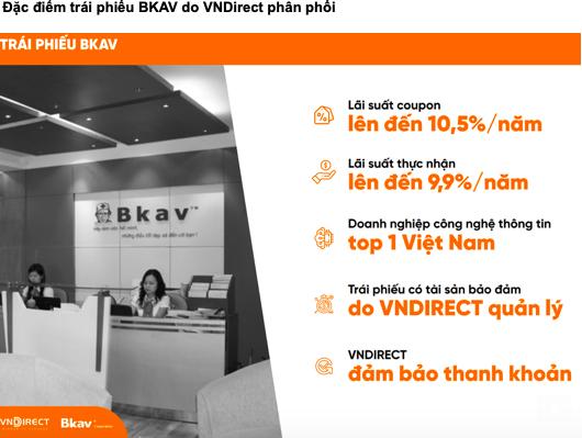 VNDirect thông tin vềtrái phiếu Bkav Pro.