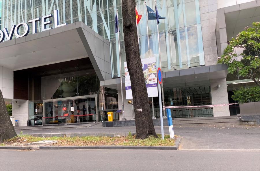 Hình ảnh Khách sạn Novotel trên đường Hai Bà Trưng (Q.1) thực hiện giãn cách xã hội