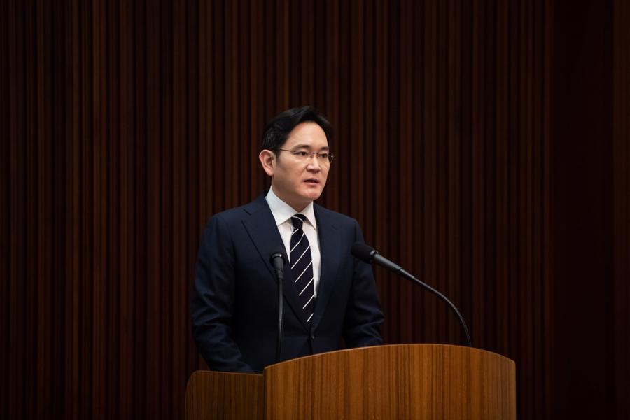 ÔngLee Jae-yong phát biểu tại một hội nghị ở Seoul năm 2020 - Ảnh: Bloomberg