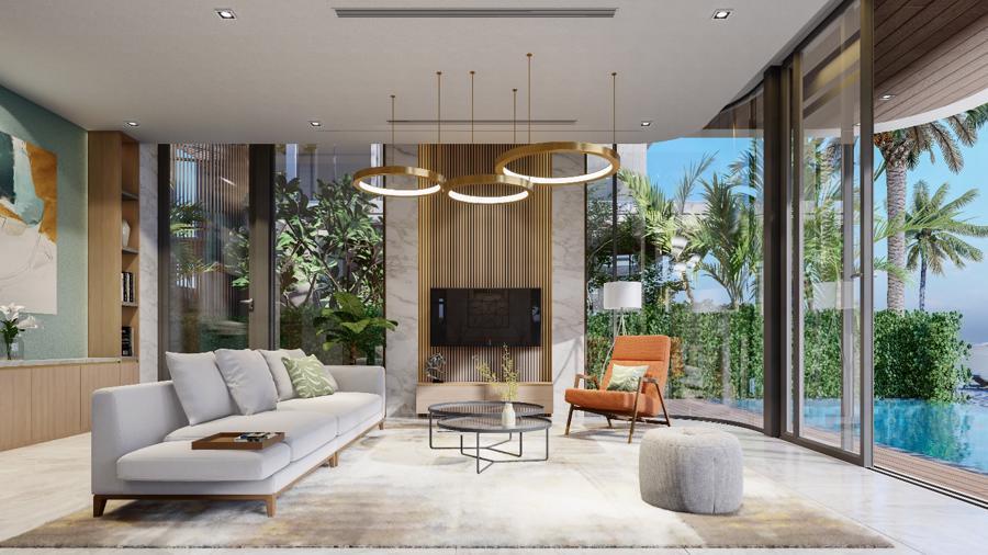 Phối cảnh một căn villa đáng sở hữu của Venezia Beach.