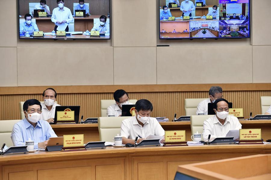 Các thành viên Chính phủ tại phiên họp - Ảnh: VGP