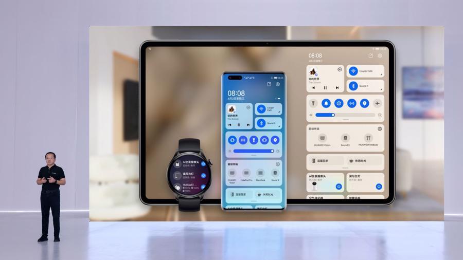 Ngày 2/6, Huawei chính thức ra mắt hệ điều hànhHarmonyOS trên smartphone, đồng hồ thông minh và máy tính bảng - Ảnh: Huawei