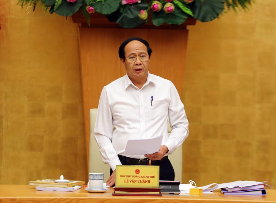 Phó Thủ tướng Lê Văn Thành phát biểu chỉ đạo tại hội nghị - Ảnh: VGP/Đức Tuân
