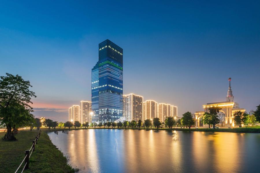 """Không chỉ hoàn thiện mô hình """"Sống - làm việc - nghỉ dưỡng"""" 3 trong 1 của Đại đô thị, TechnoPark Tower còn góp phần tạo dựng trung tâm kinh tế, công nghệ mới của thành phố ở phía Đông."""