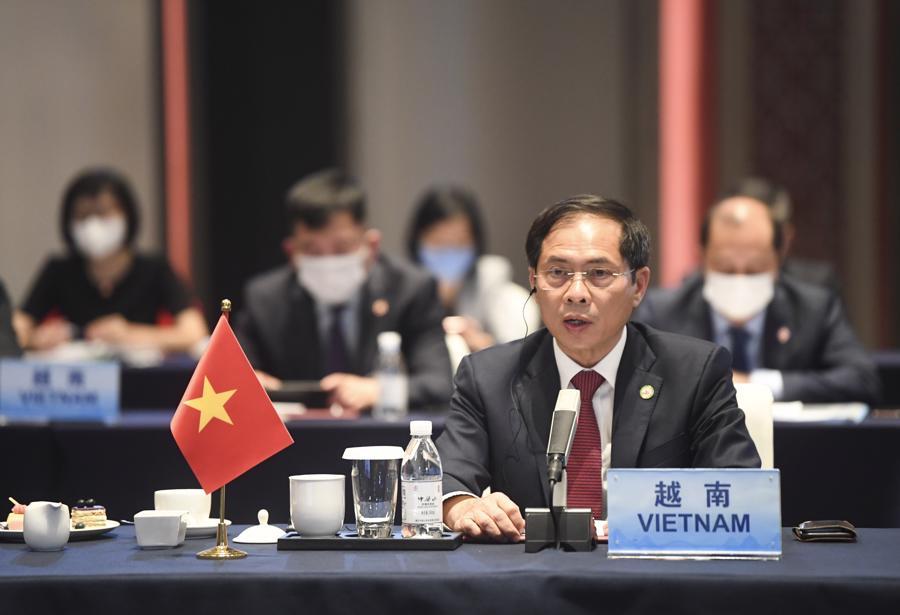 Bộ trưởng Ngoại giao Bùi Thanh Sơn tại hội nghị - Ảnh: Bộ Ngoại giao