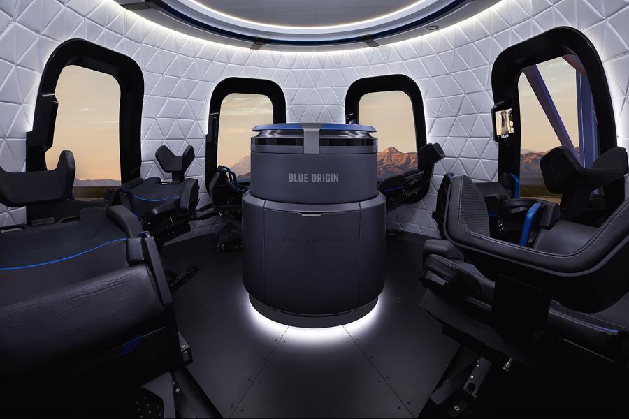 Cabin chở người của tàu tên lửa New Shepard - Ảnh: Blue Origin.