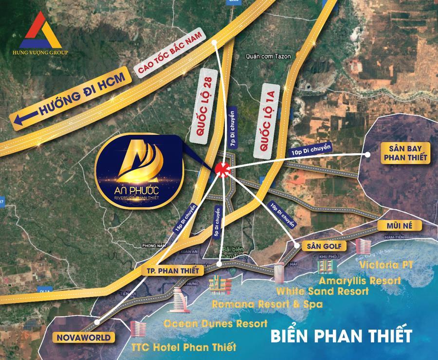"""Dự án An Phước Riverside Phan Thiết sở hữu vị trí đắc địa, """"có 1 không 2""""."""
