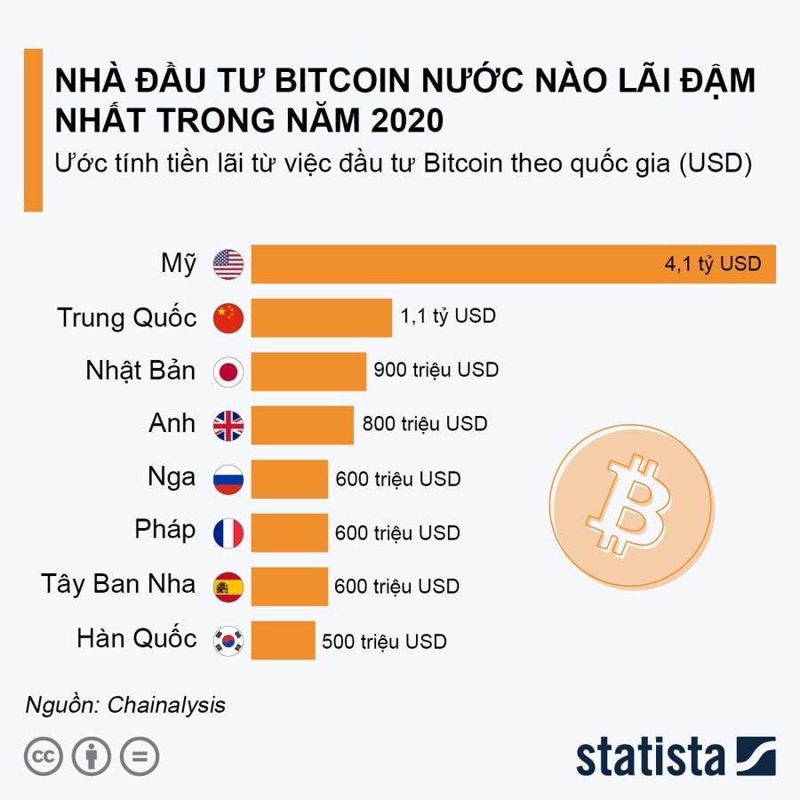 Nhà đầu tư Bitcoin nước nào lãi đậm nhất trong năm 2020? - Ảnh 1