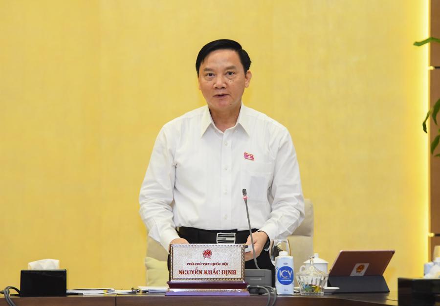 Phó Chủ tịch Quốc hội Nguyễn Khắc Định tại phiên họp - Ảnh: Quochoi.vn