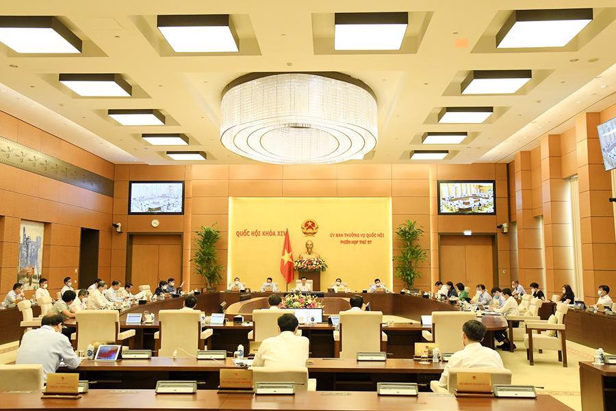 Phiên họp thứ 57 của Ủy ban Thường vụ Quốc hội - Ảnh: Quochoi.vn