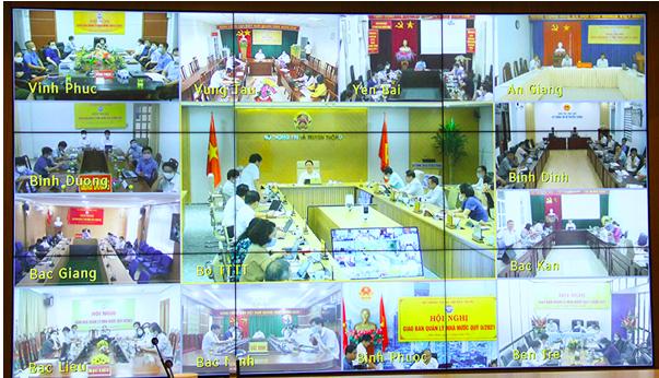 Sở Thông tin và Truyền thông các tỉnh, thành phố tham dự Hội nghị tại các điểm cầu.