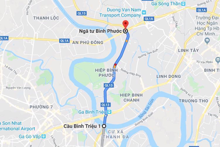 Dự án mở rộng Quốc lộ 13 đoạn từ cầu Bình Triệu đến ngã tư Bình Phước