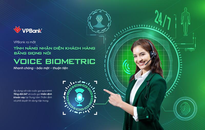 Voice Biometrics VPBank: Nhanh chóng - Bảo mật - Thuận tiện.