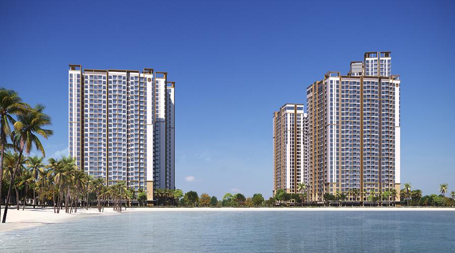 Khu căn hộ cao cấp Masteri Waterfront tại trung tâm đại đô thị Ocean Park.