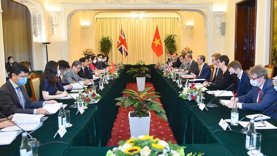 Toàn cảnh hội đàm -Ảnh: Báo Thế giới và Việt Nam