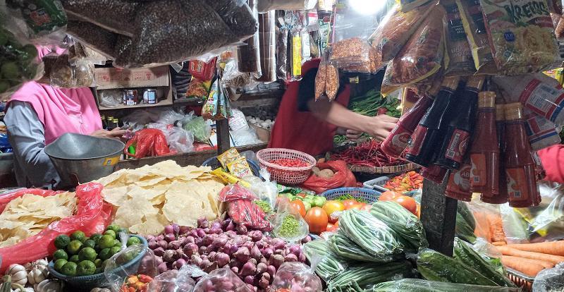 Một chợ truyền thống ở Jarkarta, Indonesia - Ảnh:Okezone
