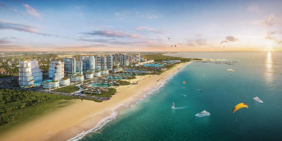 Thanh Long Bay là tổ hợp đô thị nghỉ dưỡng, giải trí lớn nhất. 90 ha, với 1,7 km bờ biển riêng, độ dốc thoải thích hợp cho các hoạt động trên biển.