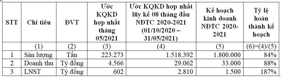 HSG: Tháng 5/2021 lợi nhuận sau thuế 602 tỷ đồng - Ảnh 1