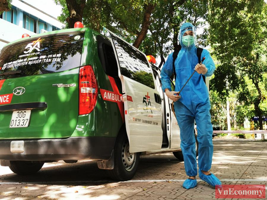 Hà Nội diễn tập phòng, chống dịch Covid-19 cho kỳ thi tốt nghiệp THPT - Ảnh 6