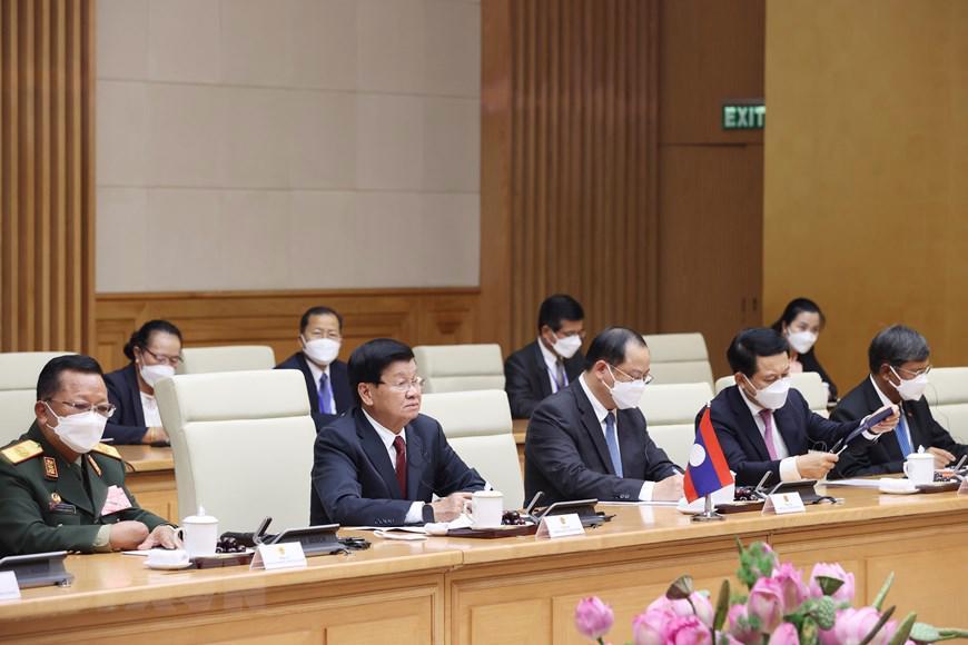 Chủ tịch Quốc hội, Thủ tướng Chính phủ hội kiến Tổng Bí thư, Chủ tịch nước Lào - Ảnh 4