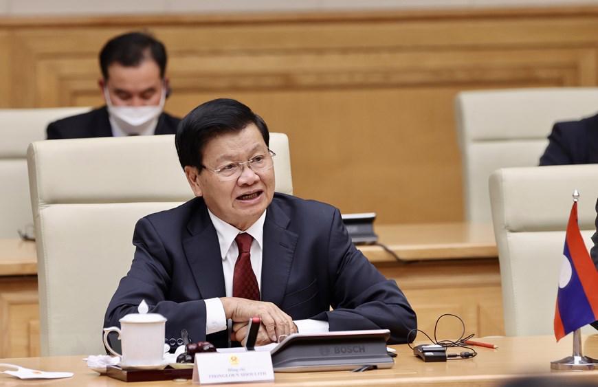 Chủ tịch Quốc hội, Thủ tướng Chính phủ hội kiến Tổng Bí thư, Chủ tịch nước Lào - Ảnh 2