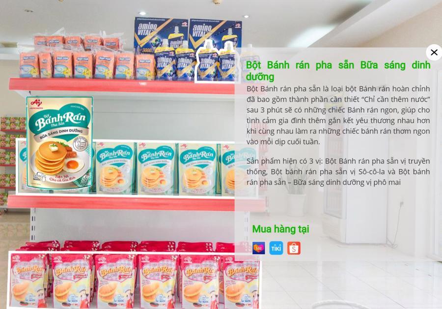 Lựa chọn sản phẩm và mua hàng trực tuyến dễ dàng ngay trong chương trình tham quan.