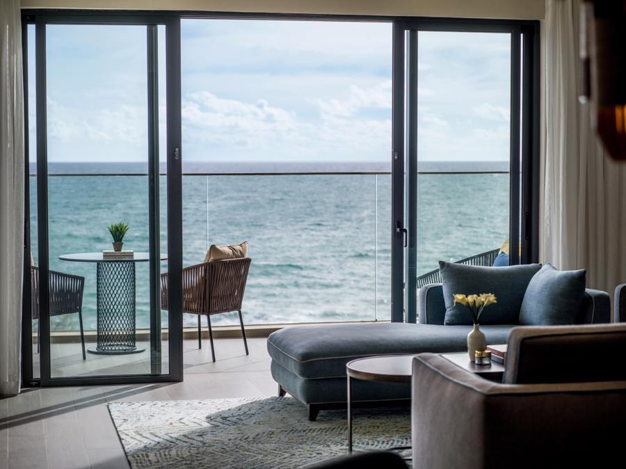 Phòng nghỉ tầm nhìn biển tuyệt đẹp.