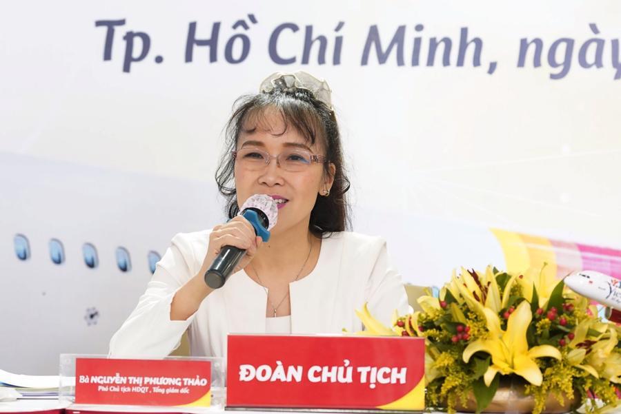 Tổng giám đốc Vietjet Nguyễn Thị Phương Thảo khẳng định phía trước là tương lai tốt đẹp (ảnh: Hữu Tài).