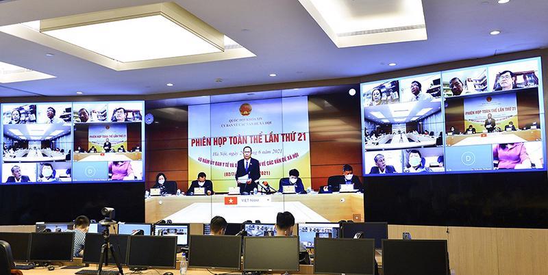 Toàn cảnh phiên họp theo hình thức trực tuyến ngày 29/6 - Ảnh: Quochoi.vn