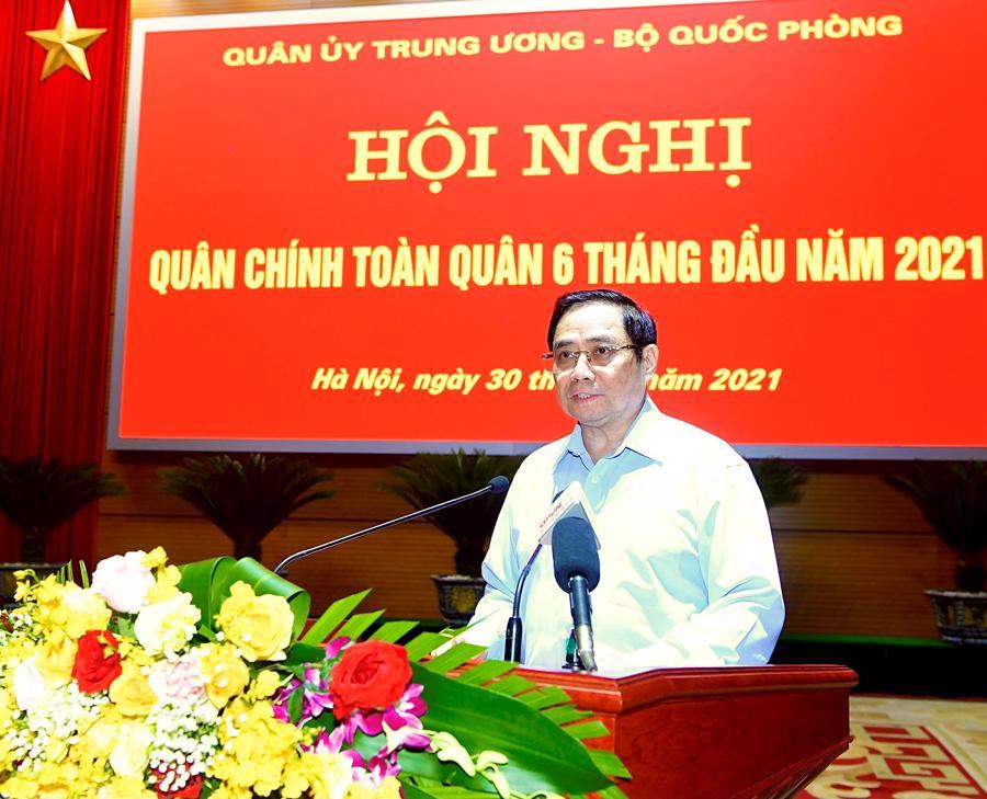 Thủ tướng Chính phủ Phạm Minh Chính phát biểu tại hội nghị - Ảnh: VGP