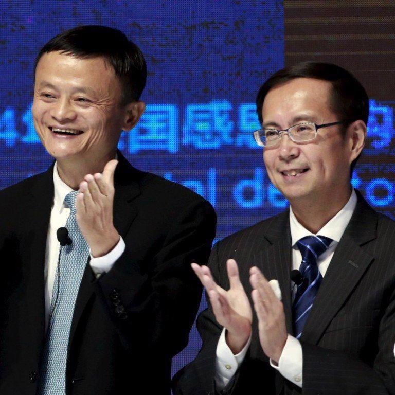Daniel Zhang (phải) là người kế nhiệm Jack Ma giữ chức Giám đốc điều hành Alibaba - Ảnh: SCMP